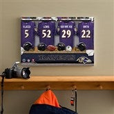 NFL Baltimore Ravens Personalized Locker Room Canvas- 12x18 - 10910-S