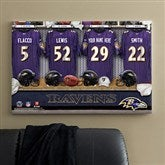 NFL Baltimore Ravens Personalized Locker Room Canvas- 24x36 - 10910-L