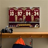 NFL Washington Redskins Personalized Locker Room Canvas- 12x18 - 10911-S