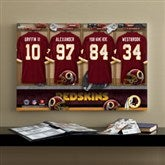 NFL Washington Redskins Personalized Locker Room Canvas- 16x24 - 10911-M