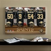 NFL New Orleans Saints Personalized Locker Room Canvas- 16x24 - 10912-M
