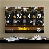 NFL Pittsburgh Steelers Personalized Locker Room Canvas- 16x24 - 10914-M