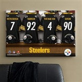 NFL Pittsburgh Steelers Personalized Locker Room Canvas- 24x36 - 10914-L