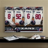 NFL Houston Texans Personalized Locker Room Canvas- 16x24 - 10915-M