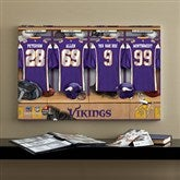 NFL Minnesota Vikings Personalized Locker Room Canvas- 16x24 - 10917-M