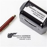 Floral Message Self-Inking Address Stamp - 10918