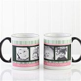 Photo Message to Her Personalized Black Handle Mug 11 oz.- Black - 10923-B