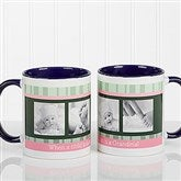 Photo Message to Her Personalized Coffee Mug 11 oz.- Blue - 10923-BL
