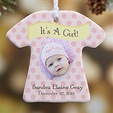 1-Sided It's A Boy or Girl! Personalized Photo Ornament - 10925-1