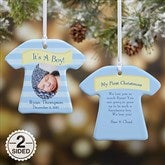 2-Sided It's A Boy or Girl! Personalized Photo Ornament - 10925-2