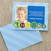Party Patterns Personalized Photo Thank You Cards - 10926-P