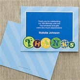 Party Patterns Personalized Thank You Cards - 10926-N