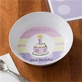 First Birthday Girl Personalized Melamine Bowl - 10929D-B