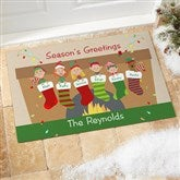 Stocking Family Characters Personalized Standard Doormat - 10930-S