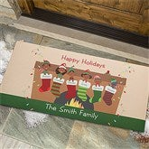 Stocking Family Characters Personalized Oversized Doormat- 24x48 - 10930-O
