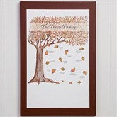 Fall Family Tree Personalized Canvas Print- 12