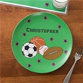 All Star Personalized Melamine Plate - 10941D-P