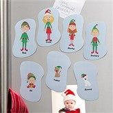 Winter Family  Character Collection Personalized Magnets - 10949
