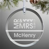 Mr. & Mrs. Personalized Ornament - 10952