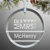 Mr. & Mrs. Personalized Ornament - 10952