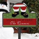 Santa Stop Here! Personalized Magnetic Garden Sign - 10953-M