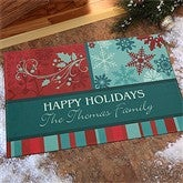 Happy Holidays Personalized Doormat - 10954
