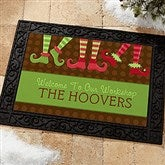 Welcome To Our Workshop Personalized Recycled Rubber Back Doormat - 10955
