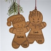 Gingerbread Cookie Personalized Ornament - 10969