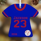 1-Sided Sports Jersey Personalized T-Shirt Ornament - 10976-1