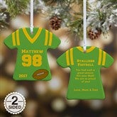 2-Sided Sports Jersey Personalized T-Shirt Ornament - 10976-2
