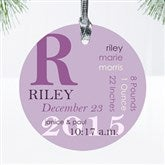 All About Baby Personalized Birth Ornament - 10978