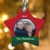 1-Sided Precious Photo Personalized Star Ornament - 10986-1