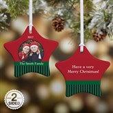 2-Sided Precious Photo Personalized Star Ornament - 10986-2