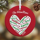 1-Sided Heart Of Love Personalized Ornament - 10987-1