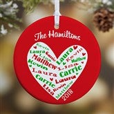 1-Sided Heart Of Love Personalized Ornament- Small - 10987-1S