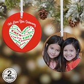 2-Sided Heart Of Love Personalized Ornament - 10987-2
