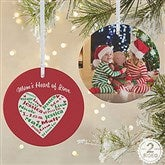 2-Sided Heart Of Love Personalized Ornament- Large - 10987-2L