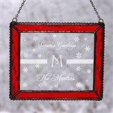 Winter Wonderland Monogram Personalized Suncatcher - 10994