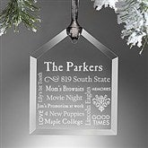 Our Family Engraved Message Ornament - 10999