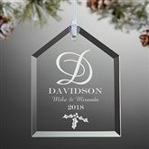 Our Monogram Engraved House Ornament - 11005