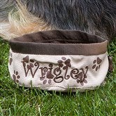 Dogs Unleashed™ Personalized Travel Bowl - 11010-B