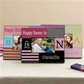 Trendy Birthday Girl Personalized Photo Frame - 11011