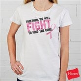Fight To Find The Cure© Personalized Fitted T-Shirt - 11019-FT