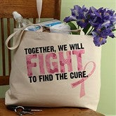 Fight To Find The Cure© Personalized Canvas Tote - 11022