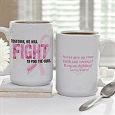 Fight To Find The Cure Personalized Coffee Mug- 15 oz. - 11023-L