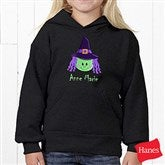 Lil' Witch Youth Black Hooded Sweatshirt - 11028YS