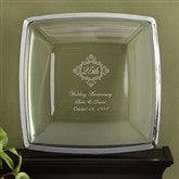 Anniversary Personalized Keepsake Platter in Platinum - 11032-P
