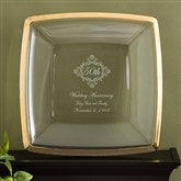Anniversary Personalized Keepsake Platter in Gold - 11032-G