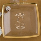 Elegant Monogram Personalized Serving Platter- Gold - 11033-G