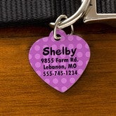 Pick Your Design Personalized Pet ID Tag - Heart - 11050-H
